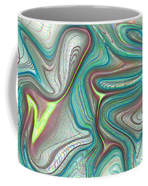 Art Coffee Mug featuring the digital art Digital Art Abstract by David Pyatt