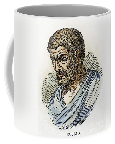 Ancient Coffee Mug featuring the photograph Euclid (fl. 300 B.c.) by Granger