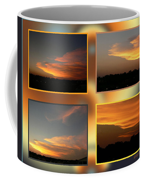 Ericamaxine Coffee Mug featuring the photograph 4 In 1 Sunsets by Ericamaxine Price