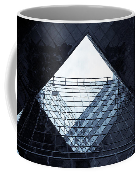 Abstract Coffee Mug featuring the photograph London Southbank Abstract by David Pyatt
