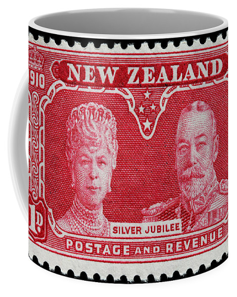 Old New Zealand Postage Stamp Coffee Mug featuring the photograph old New Zealand postage stamp by James Hill