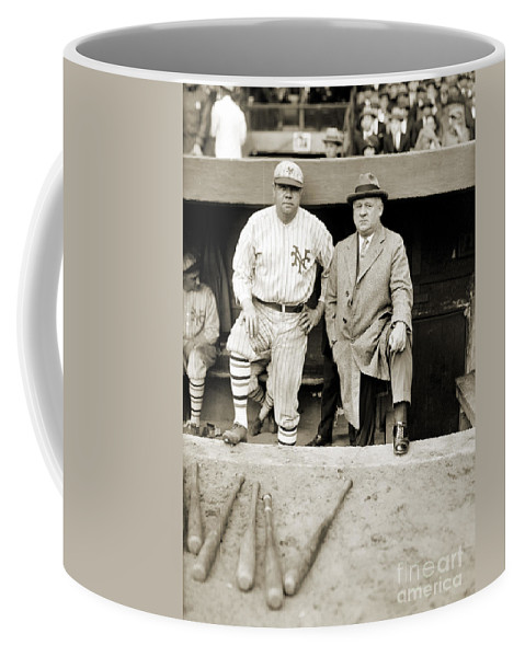 1923 Coffee Mug featuring the photograph George H. Ruth (1895-1948) by Granger