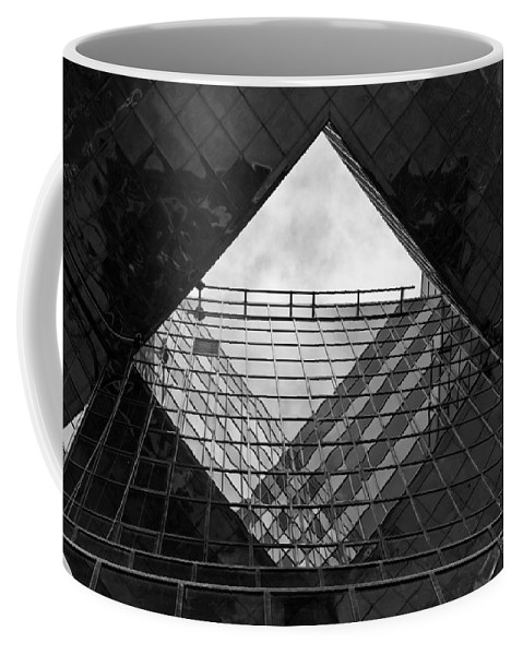 Abstract Coffee Mug featuring the photograph London Southbank Abstract by David Pyatt