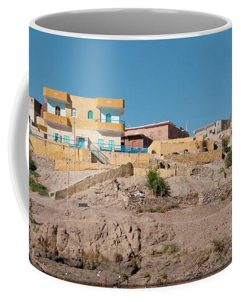 Egypt Nile Philae Nubian Coffee Mug featuring the digital art Nubians Nile Philae by Carol Ailles