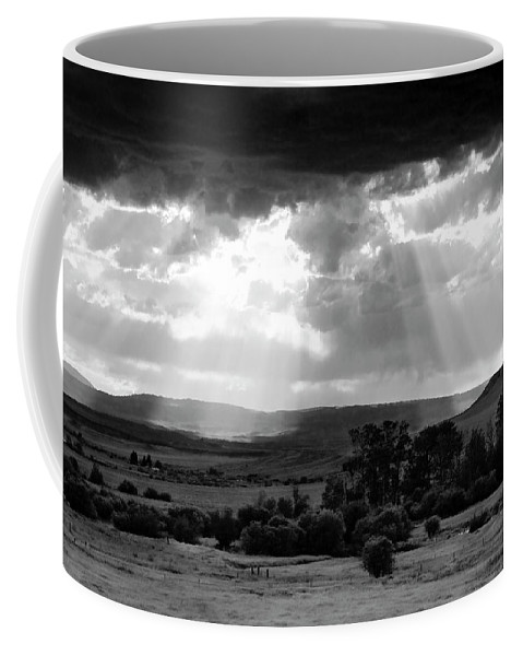 Americas Coffee Mug featuring the photograph Rain Sun Rays by Roderick Bley