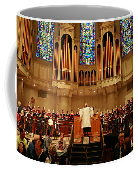 Choir St. James Cathedral Coffee Mug featuring the photograph St James Cathedral by Mike Penney