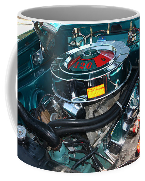 1965 Coffee Mug featuring the photograph 65 Plymouth Satellite Engine-8482 by Gary Gingrich Galleries