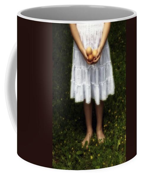 Girl Coffee Mug featuring the photograph Eggs by Joana Kruse