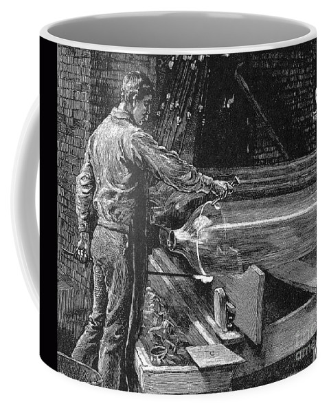 19th Century Coffee Mug featuring the photograph Glassworker, 19th Century by Granger