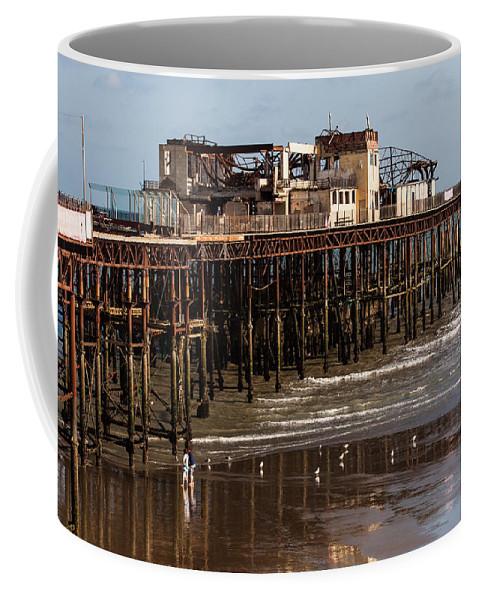 Beach Coffee Mug featuring the photograph Hastings Pier by Dawn OConnor