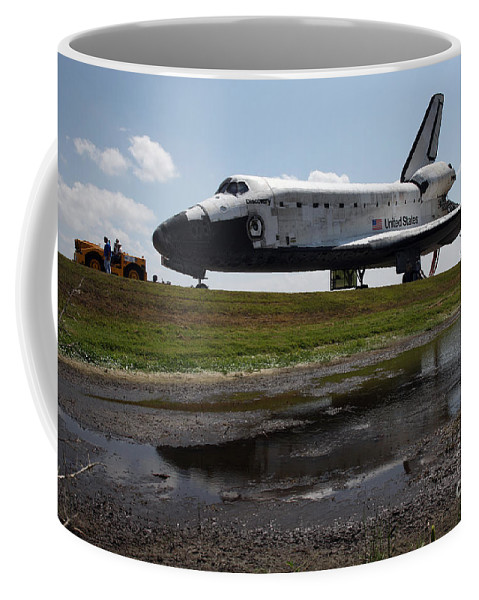 Adults Only Coffee Mug featuring the photograph Space Shuttle Discovery by Stocktrek Images