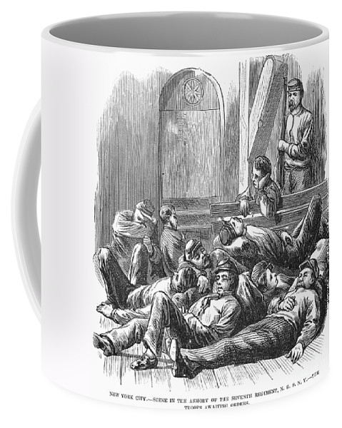 1877 Coffee Mug featuring the photograph Great Railroad Strike, 1877 by Granger