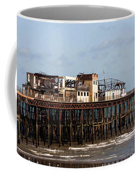 Beach Coffee Mug featuring the photograph Hastings Pier by Dawn OConnor