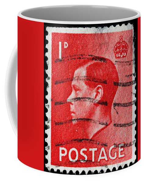 Old British Postage Stamp Coffee Mug featuring the photograph old British postage stamp by James Hill