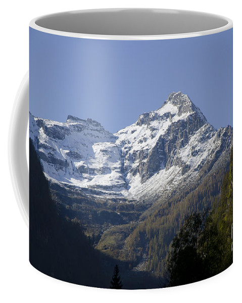 Mountain Coffee Mug featuring the photograph Snow-capped Mountain by Mats Silvan