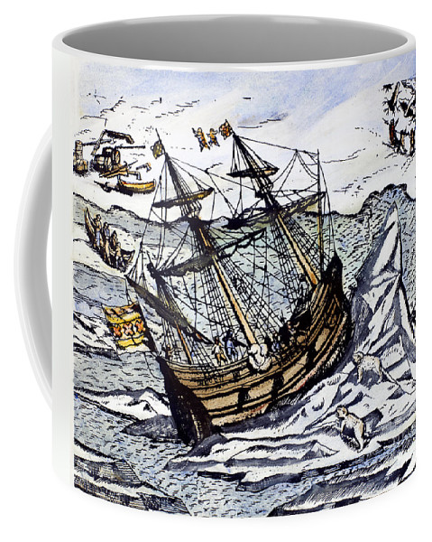 1590s Coffee Mug featuring the photograph Willem Barents (c1550-1597) by Granger