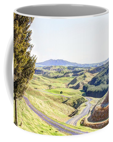 Country Coffee Mug featuring the photograph Landscape by Les Cunliffe