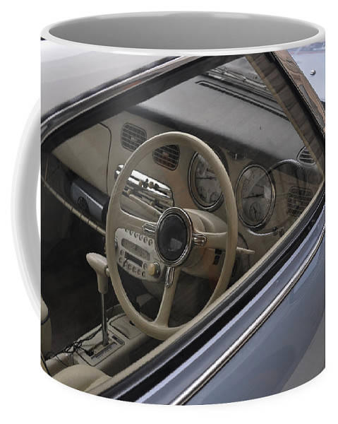 Nissan Coffee Mug featuring the photograph 91 Nissan Figaro Interior by Tim Nyberg