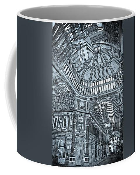 Leadenhall Coffee Mug featuring the digital art Leadenhall Market London by David Pyatt
