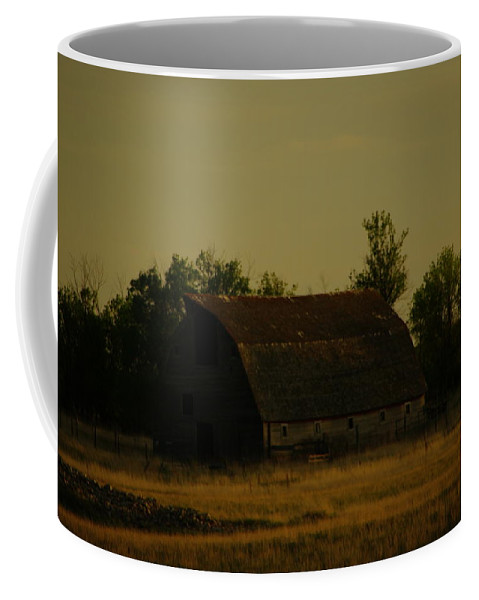 Barns. Rural Coffee Mug featuring the photograph A Beauty Of An Old Barn by Jeff Swan