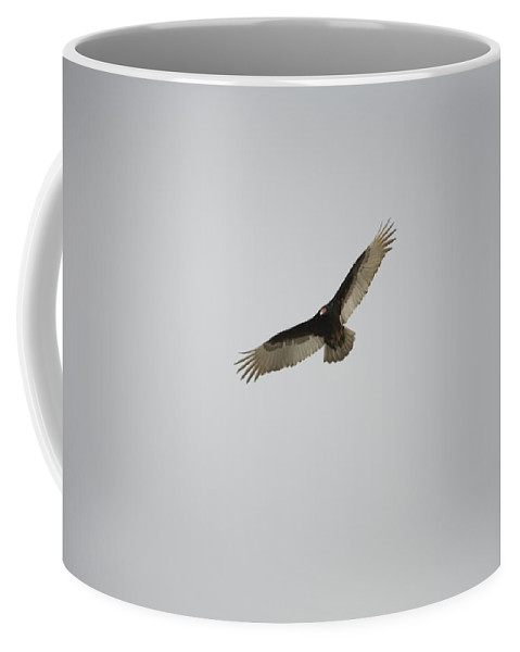 Harper's Ferry Coffee Mug featuring the photograph A Circling Turkey Vulture Rides Air by Stephen St. John