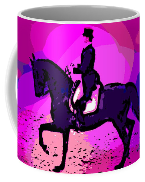 Dressage Coffee Mug featuring the photograph A Circus Atmosphere by George Pedro