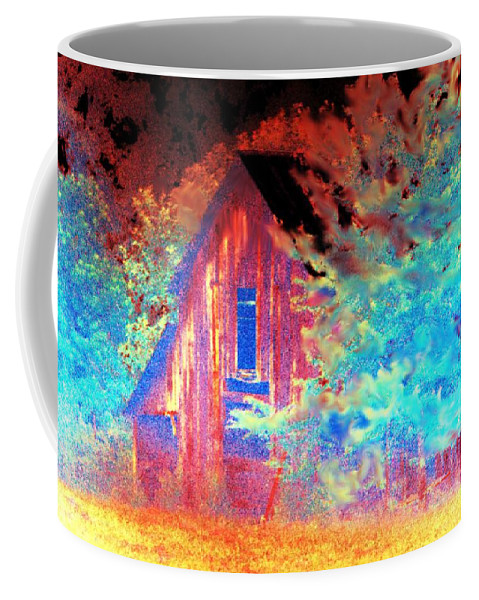 Daunting Coffee Mug featuring the photograph A Daunting Eve by Maria Urso