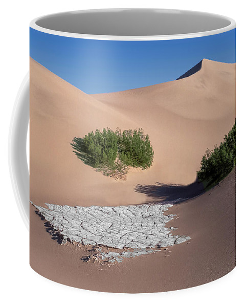 Sand Dunes Coffee Mug featuring the photograph A Death Valley View by Dave Mills