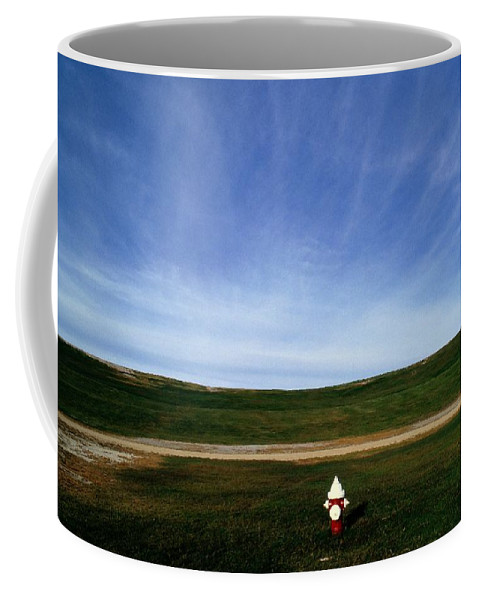 Virginia Beach Coffee Mug featuring the photograph A Fire Hydrant In A Green Field by Raymond Gehman