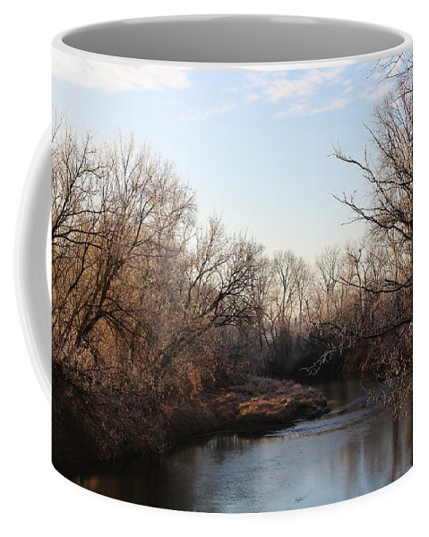 Creek Coffee Mug featuring the photograph A Frosty Morning On The Elkorn Creek by Bruce Bley