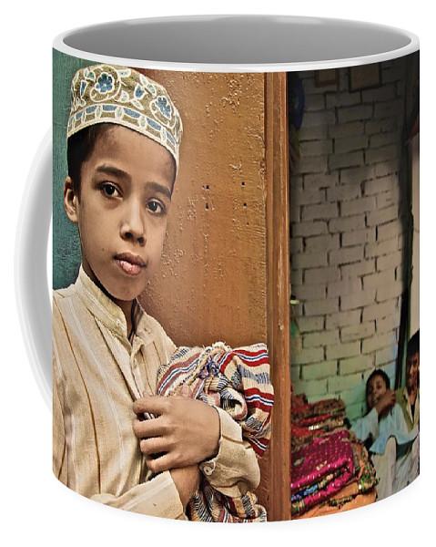 Varanasi Coffee Mug featuring the photograph A Good Boy by Valerie Rosen