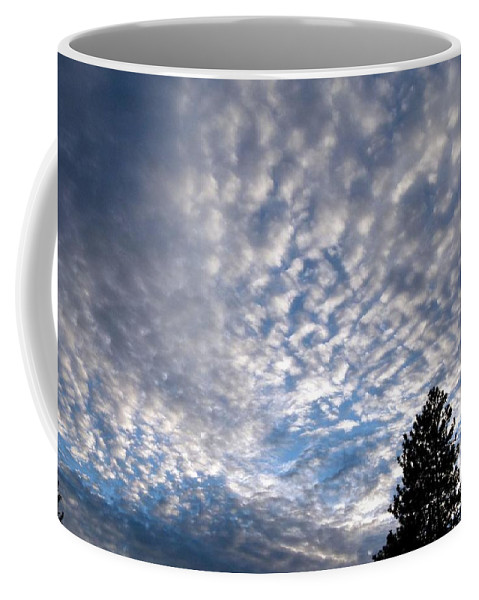 Mackerel Sky Coffee Mug featuring the photograph A Mackerel Sky by Will Borden