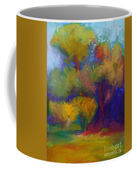 Mediterraneo Coffee Mug featuring the painting A Mediterranian Morning by Dragica Micki Fortuna