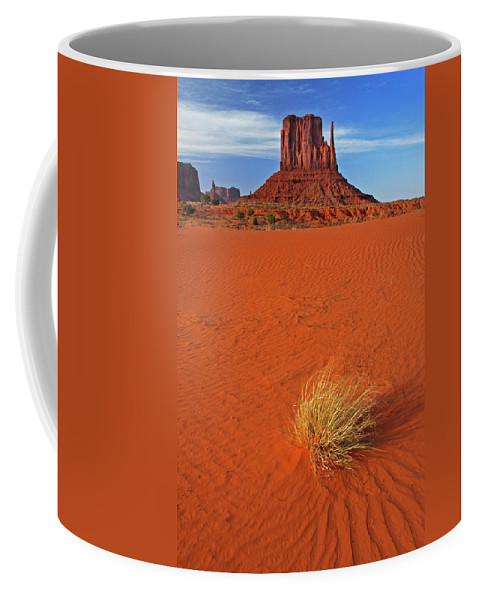 Monument Valley Coffee Mug featuring the photograph A Monument Valley View by Dave Mills
