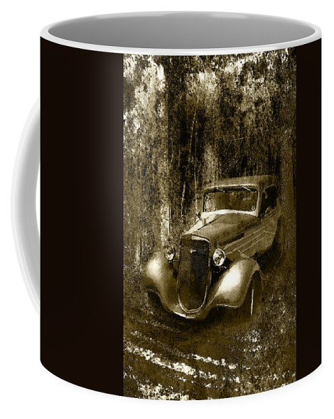Chevy Coffee Mug featuring the photograph A More Elegant Time In Sepia by Kathy Clark