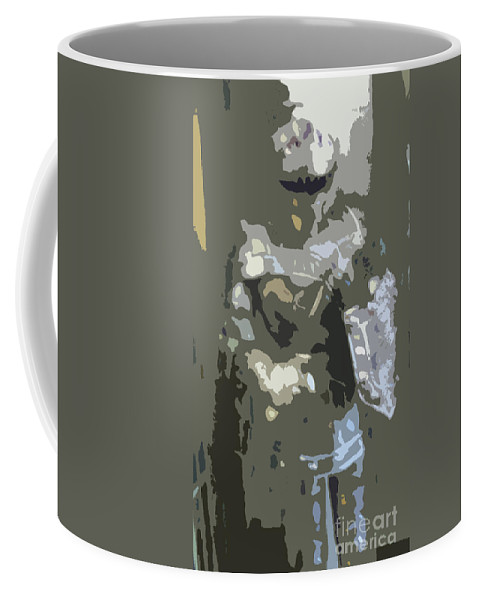 History Coffee Mug featuring the digital art A Nightly Knight by Karen Francis