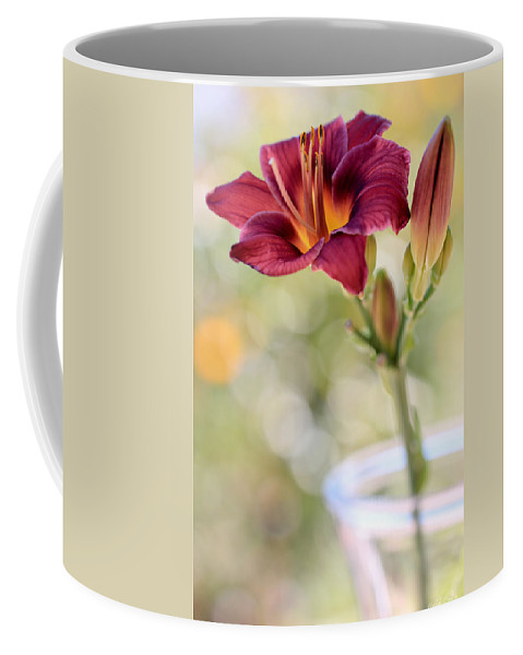 Daylily Coffee Mug featuring the photograph A Plum Perfect Kinda Day by Heidi Smith