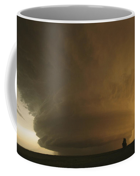 Outdoors Coffee Mug featuring the photograph A Rare Mother Ship Cloud Formation by Carsten Peter