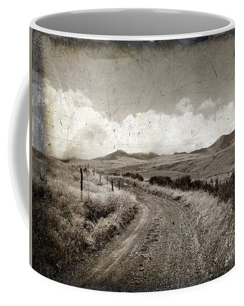 Eternity Coffee Mug featuring the photograph A Rural Path In Auvergne. France by Bernard Jaubert