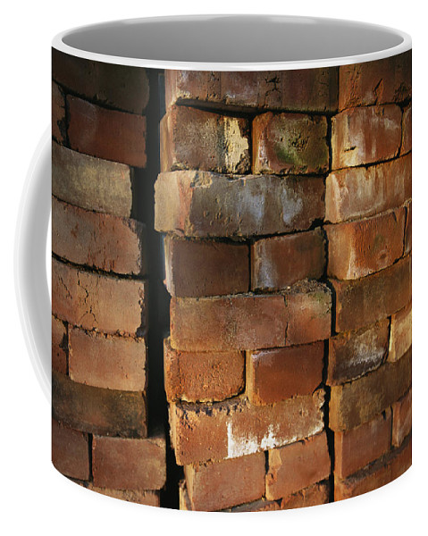 Masonry Coffee Mug featuring the photograph A Stack Of Bricks by Joel Sartore