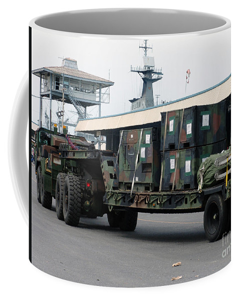 Exercise Cobra Gold Coffee Mug featuring the photograph A U.s. Marine Corps Mk48 Logistics by Stocktrek Images