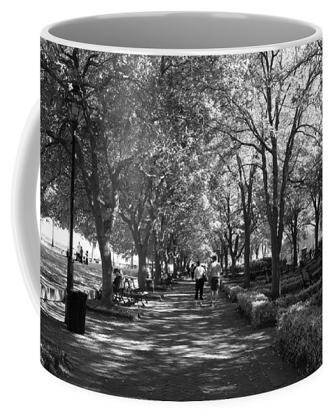 Park Coffee Mug featuring the photograph A Walk In The Park by Jean Haynes