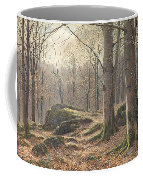 A Winter Morning Coffee Mug featuring the painting A Winter Morning by James Thomas Watts