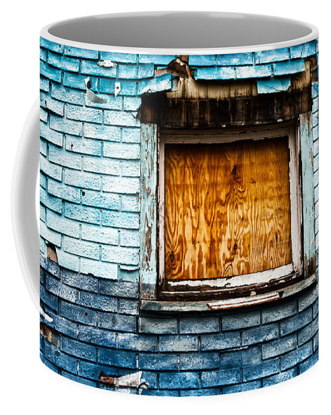 Blue Coffee Mug featuring the photograph Abandoned Blue by Karol Livote