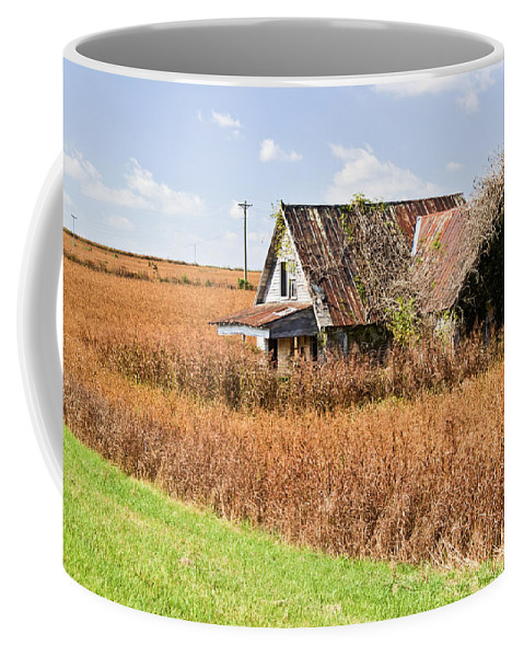 Nostalgia Coffee Mug featuring the photograph Abandoned Farmhouse In Field 4 by Douglas Barnett