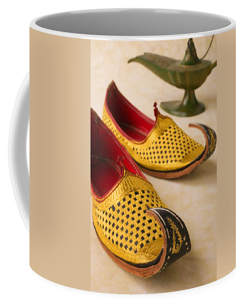 Arabian Shoes Coffee Mug featuring the photograph Abarian Shoes by Garry Gay