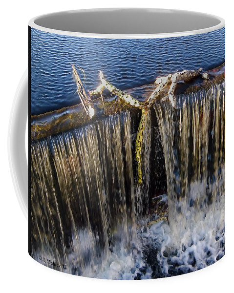 2d Coffee Mug featuring the photograph Abbotts Pond Falls by Brian Wallace