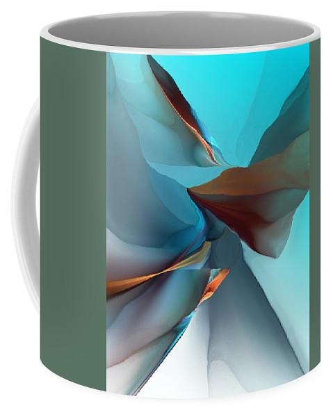 Fine Art Coffee Mug featuring the digital art Abstract 011612 by David Lane