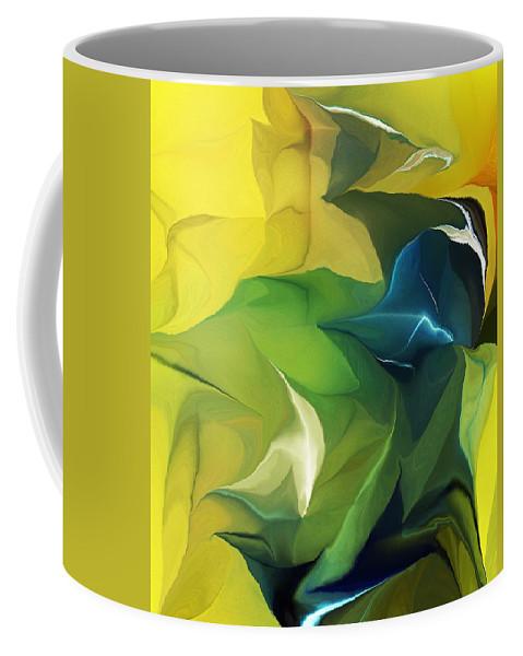 Fine Art Coffee Mug featuring the digital art Abstract 052912 by David Lane