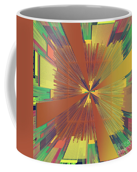 Abstract Coffee Mug featuring the digital art Abstract 4 by Deborah Benoit